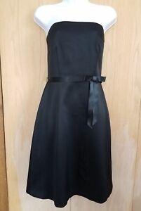 Laundry by Shelli Segal Dress Sz 4 Strapless Waist Bow Black Bridesmaid Prom