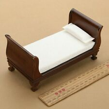Doll house vintage single bed in 1:12 scale