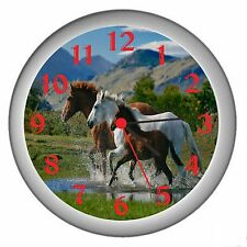 Running Horses Room Decor Wall Clock