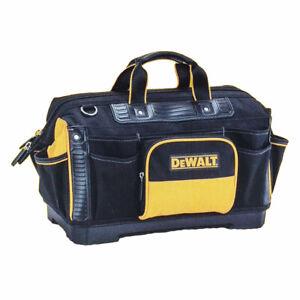 DEWALT Hard Base Tool Bag Technician Tool Bag Multi Compartment Shoulder Strap
