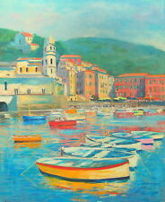 Listed Nino Pippa Original Oil Painting Village Italy Boldini Interest 24X30 COA