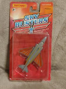Matchbox Sky Busters Phantom Marines Jet Sealed on Card 1989
