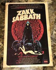 Official Zakk Sabbath Zakk Wylde postcard - 2017 tour art from Brazil shows RARE