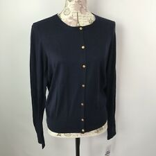 Tommy Hilfiger Womens XL Button Front Sweater Cardigan lightweight Navy Blue