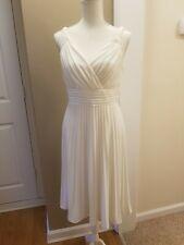Suzi Chin White Pleated Empire Dress size 6