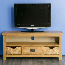 Pine TV & Entertainment Stands without Assembly Required