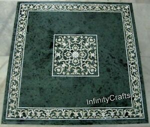 30 Inches Marble Coffee Table Top Peitra Dura Art Luxurious Look Island Table