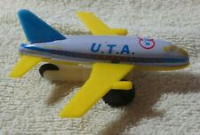 Vintage Airplane Tin Toy Friction Movement U.T.A. BOEING B-737