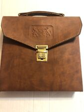 Vintage Leather Rare Portable Travel Mini Bar Carry Case Flask With Accessories