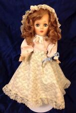 "RARE 1963 EEGEE 15"" DOLL ORIG 18th C. STYLE DRESS HAT HEELS SLEEP EYES PEARLS"