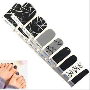 Jaysea Nails Pedicure Polish Strips- Color Black Line Street Nail Art -B4G1 Free