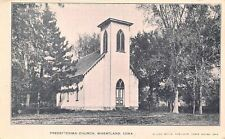 Wheatland Iowa~Big Trees Around Italianate Presbyterian Church 1908