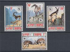 Ethiopia Sc 1303-1306 MNH. 1990 WWF cplt. Endangered Animals