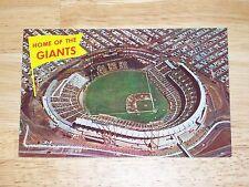 "Vintage San Francisco Giants Candlestick Park ""Home Of The Giants"" 1960sPostcard"