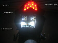 GSX-R Hayabusa 1300R White LED Motorcycle Car License Plate Bolt Light Kit qty 2