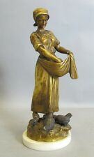 Superb Antique Art Nouveau Gilt Bronze Sculpture c. 1900  Henryk II Kossowski