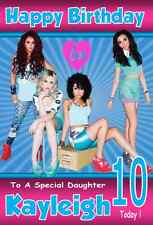 LITTLE MIX !!  NEW LARGE A5 Personalised Birthday Card!! ANY NAME & AGE GREAT !!