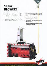 Simex 150 180 210 Snow Blowers brochure Prospekt 9/02 Schneefräse 2002