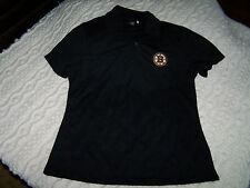 BOSTON BRUINS® BLACK POLO SHIRT. WOMAN'S LARGE. NEW