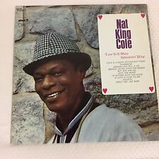 Stereo Vinyl LP Nat King Cole Record Album, Love is a Many Splendored Thing Rare