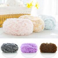 1Ball 50g Soft Fluffy Faux Fur Yarn For Hat Scarf Hand Knitting Wool Yarn Craft