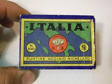 SCATOLINA DI CARTONE PUNTINE ACCIAIO NICHELATO ITALIA LEGNANI SOLARO MILANO (VT)