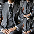 Men Suits Checkered/Windowpane Formal 3 Pieces Tuxedos Formal Business Wedding