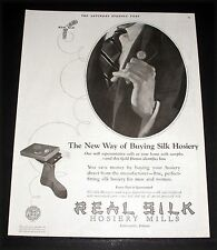 1924 OLD MAGAZINE PRINT AD, REAL SILK HOSIERY, THE NEW WAY OF BUYING HOSIERY!