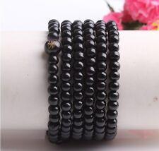 new Tibetan Buddhist 216wood Prayer Bead Mala Necklace Bracelet Jewelry Black