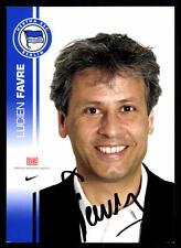 Lucien Favre Autogrammkarte Hertha BSC Berlin 2007-08 Original Signiert+ A 72704