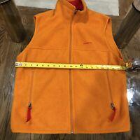 Patagonia Synchilla Zip Up Unisex Vest Orange Size Medium