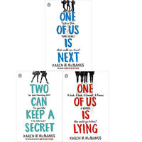 Karen McManus 3 Books COllection Set(One Of Us Is Next ,Two Can Keep ,Lying) NEW