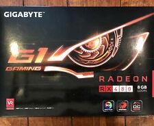 Gigabyte Radeon RX 480 G1 Gaming 8GB Video Graphics Card OC Edition RGB Cycles