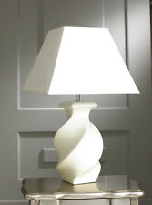 Modern Contemporary Cream Sabrina Table Lamp