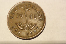 1941  Newfoundland One Cent Pre-Confederation George V1