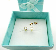 Beautiful 14k Yellow Gold Solitaire Round Diamond 0.30 ctw Stud Earrings