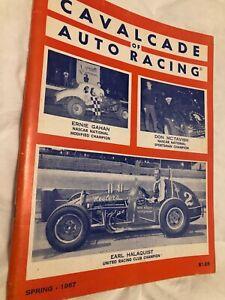 RARE SPRING 1967 VINTAGE CAVALCADE OF AUTO RACING YEARBOOK