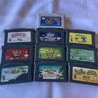 10 Gameboy Advance Games Lot Tak Spongebob Nickelodeon Monster Cleaned & Tested