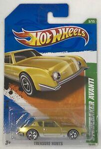 2011 Hot Wheels Treasure Hunts Studebaker Avanti # 5 Of 15 damaged card