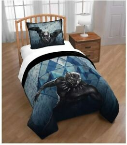 """Marvel Black Panther """"Blue Tribe"""" Twin/Full Quilt Set"""