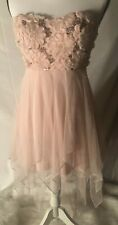 Debs Pink Floral Sequin Tiered Prom Bridesmaid Dress Women's Size 3 NWT