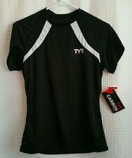 TYR Triathlon Top Tri Carbon Series Run Shirt Black/White Mesh Women's Sz S NWT