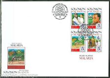 SOLOMON ISLANDS 2014 FIGHT AGAINST MALARIA  SHEET FIRST DAY COVER