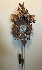 Small Vintage Wood Black Forest German Cuckoo Clock Germany Squirrels & Bird
