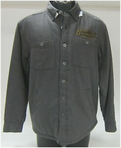 Harley Davidson Men's M-Medium Grey Long Sleeve  Shirt-Jacket  96599-14VM/000M
