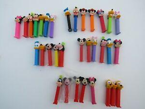 PEZ Toy Disney Movie Mickey Mouse Minnie Pluto Donald Duck Daisy Cartoon Lot