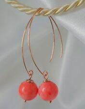 Handgefertigte echte-Ohrschmuck mit Korallen-Perlen für Damen