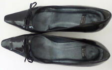 STUART WEITZMAN Black Patent Leather Squared Pointy Toes Low Heels Size 7.5 B