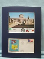 Ohio & its State Capitol in Columbus & First Day Cover for Ohio  Statehood