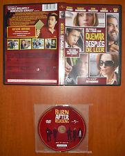 Quemar después de leer [DVD] George Clooney, Brad Pitt, John Malkovich